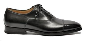 Santoni Men's MCDUP6981JB1VVINN01 Black Leather Lace-Up Shoes