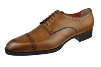 Santoni Men's Shoes Casey Cap Toe Blucher